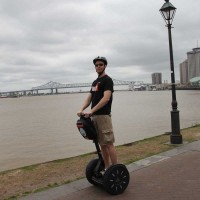 Ted Hawkes on a Segway in New Orleans
